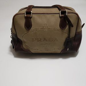 PRADA Canapa Handle Bag